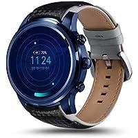 スマートウォッチメンズウォッチ携帯電話心拍数腕時計スマート腕時計アンドロイド5.1 2GBの+ 16ギガバイト3G GPS WIFI SIMカード,B