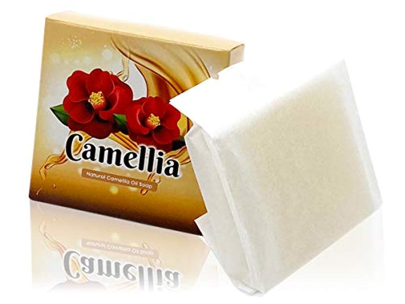 完璧つかむお客様【Amazon限定】つばき油 無添加洗顔ソープ Natural Camellia Oil Soap 【にきび対策?毛穴?黒ずみ?美白?保湿】石鹸一筋18年 日本製