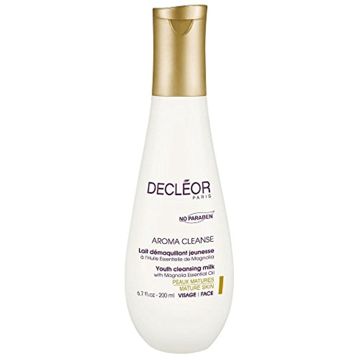 膨らみ重要仲人[Decl?or] モクレンエッセンシャルオイル、200ミリリットルとデクレオール若者のクレンジングミルク - Decl?or Youth Cleansing Milk With Magnolia Essential Oil...