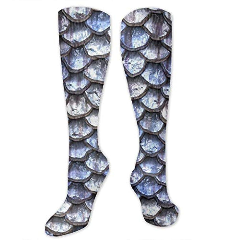 後ヘルパースポット靴下,ストッキング,野生のジョーカー,実際,秋の本質,冬必須,サマーウェア&RBXAA Mermaid Scales Socks Women's Winter Cotton Long Tube Socks Cotton...