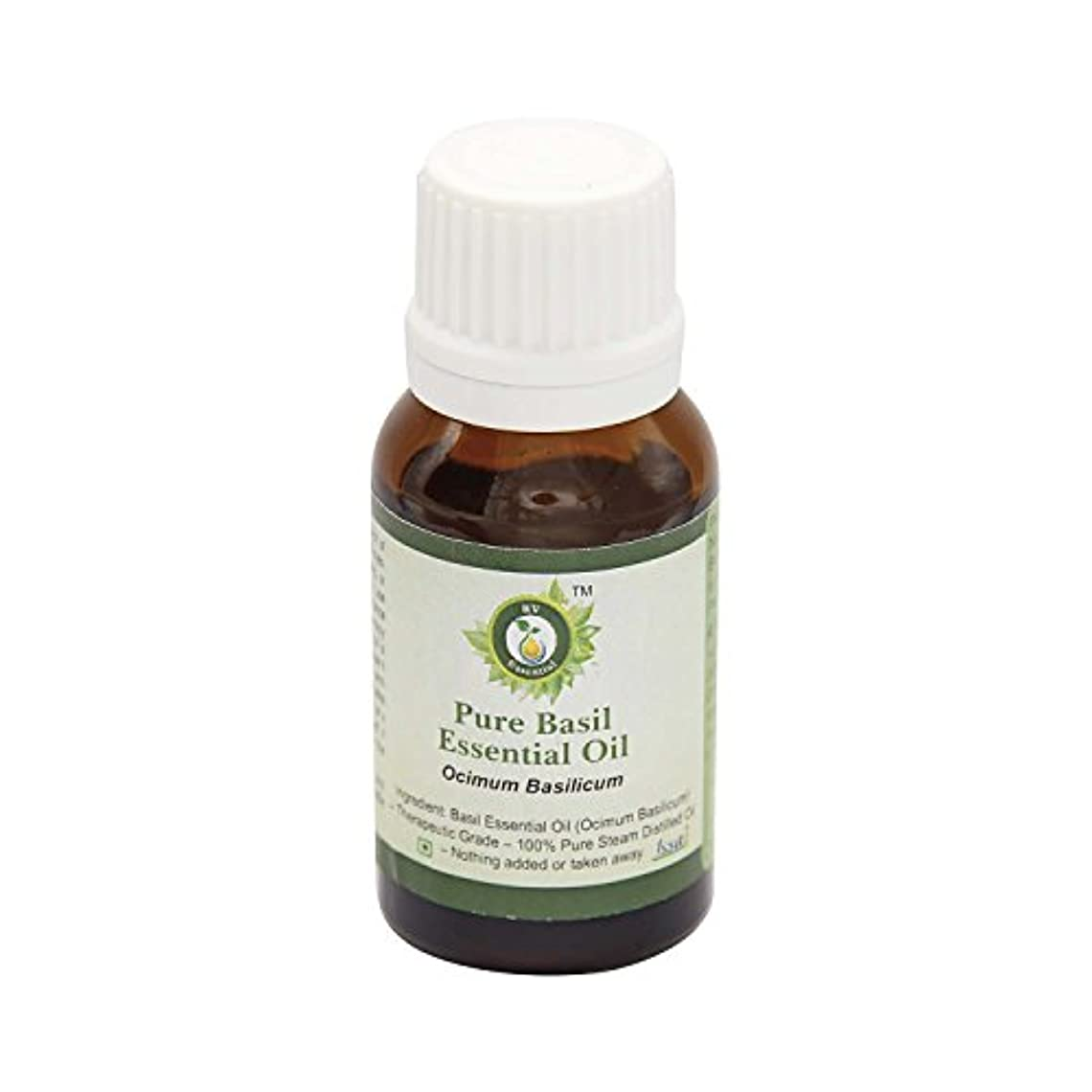 出会い君主長いですR V Essential ピュアバジルエッセンシャルオイル5ml (0.169oz)- Ocimum Basilicum (100%純粋&天然スチームDistilled) Pure Basil Essential Oil