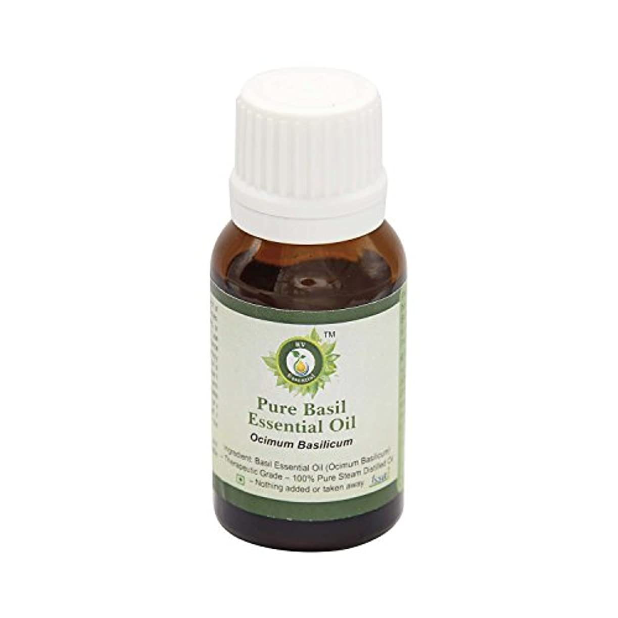 むちゃくちゃコイル朝ごはんR V Essential ピュアバジルエッセンシャルオイル5ml (0.169oz)- Ocimum Basilicum (100%純粋&天然スチームDistilled) Pure Basil Essential Oil