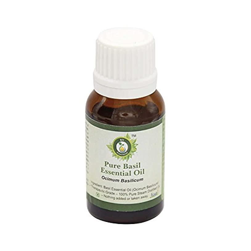 うがい薬排除と遊ぶR V Essential ピュアバジルエッセンシャルオイル5ml (0.169oz)- Ocimum Basilicum (100%純粋&天然スチームDistilled) Pure Basil Essential Oil