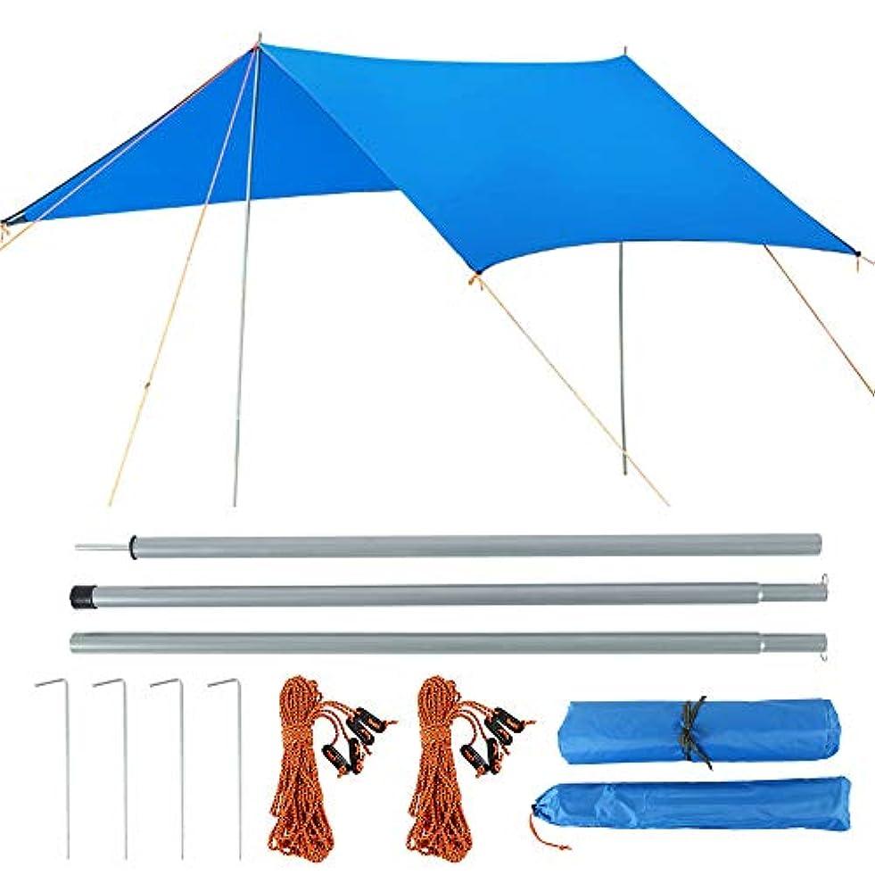 理容師医薬スティックtropicaljp_JP防水 紫外線遮断 タープ 2~6人用 テント サンシェルター シェード 広い 3X3メートル 風紐 ペグ 収納袋付き 水圧試験済