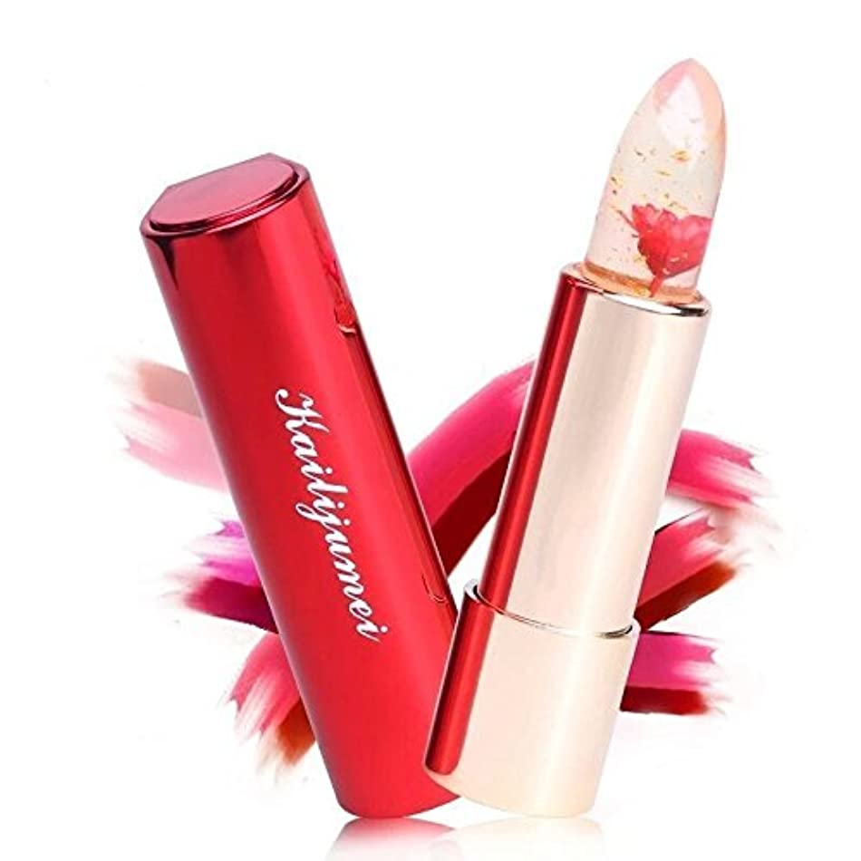 空白肯定的カウントKailijumei bright surplus天然オイル入り 唇の温度で色が変化するリップ 口紅 カイリジュメイ 恋する唇 選ばれる唇 お花 4種類 (レッド(FLAME RED))