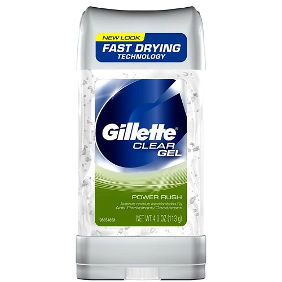 回転アルネ不均一Gillette Anti-Perspirant Clear Gel Power Rush 120 ml (並行輸入品)