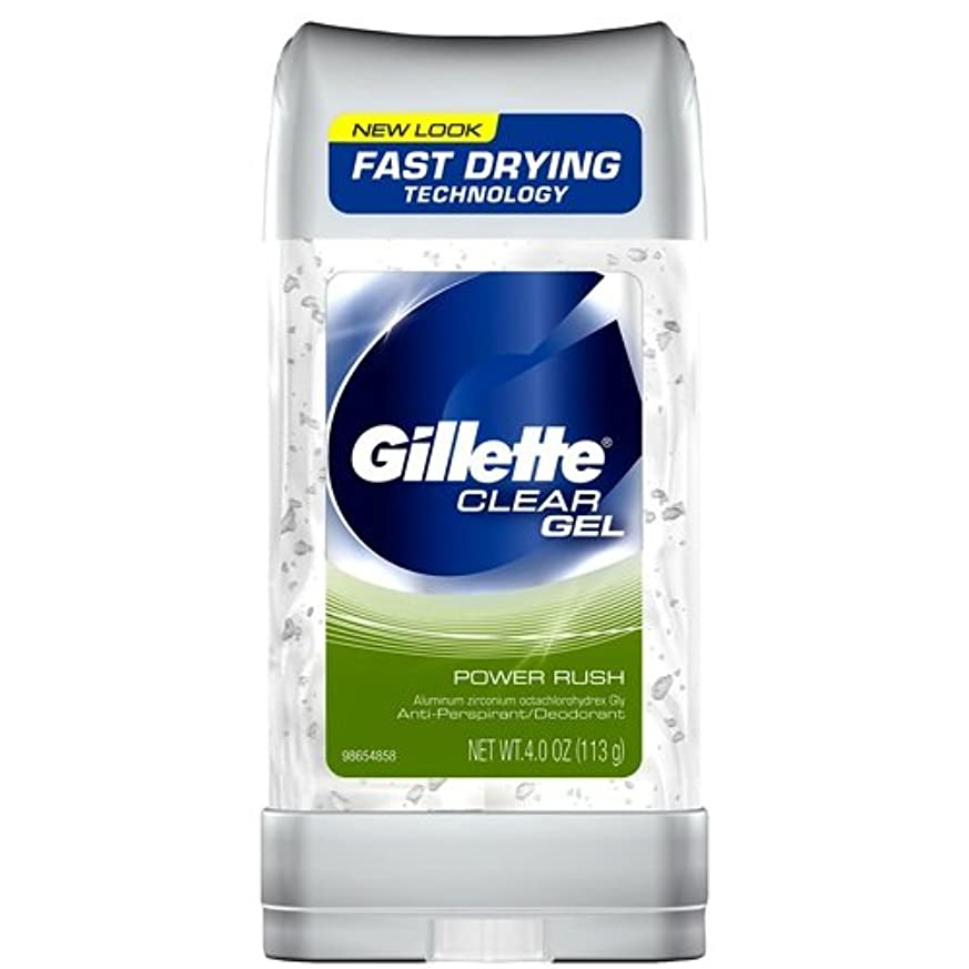 無許可はしご彼らはGillette Anti-Perspirant Clear Gel Power Rush 120 ml (並行輸入品)