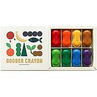 Goober Toddlersピーナッツクレヨンコンパクト、自然soybeanワックス、8色、2.2インチ、安全、非毒性