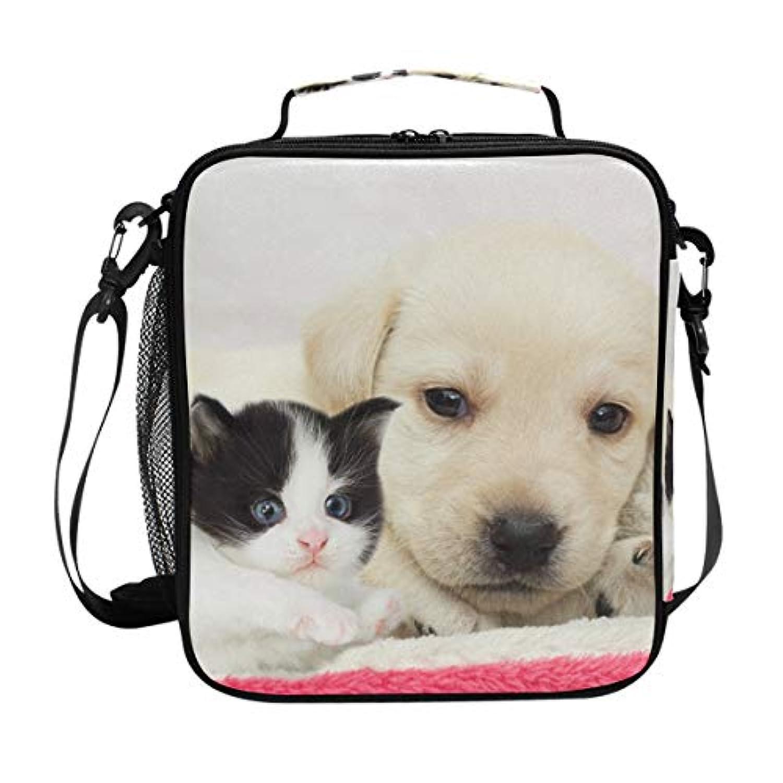 VAWA ランチバッグ お弁当バッグ 猫柄 保冷バッグ 保温 かわいい お弁当袋 大容量 弁当箱 ランチボック 防水 食品収納 通勤 通学 高校生 子供用 犬柄