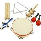 sharprepublic 楽器おもちゃ 打楽器セット 音楽おもちゃ パーカッションセット 0歳~3歳 子供用 全6種