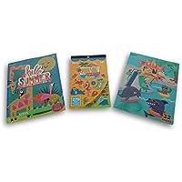 Jumping Daisy Summer Funカラーリングブックandステッカーセット – 2カラーリングブックand 1ステッカーパッド