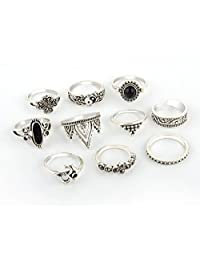 Jixin4you 10pcs Vintage Boho Mid Rings for Women Joint Knuckle Stackable Rings