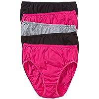 Hanes Women's Underwear Cotton Hi Cut Brief (5 Pack)
