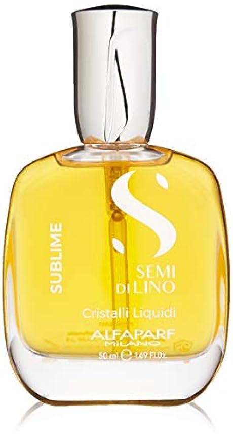 硫黄続ける回転するアルファパルフ Semi Di Lino Sublime Cristalli Liquidi (All Hair Types) 50ml/1.69oz並行輸入品