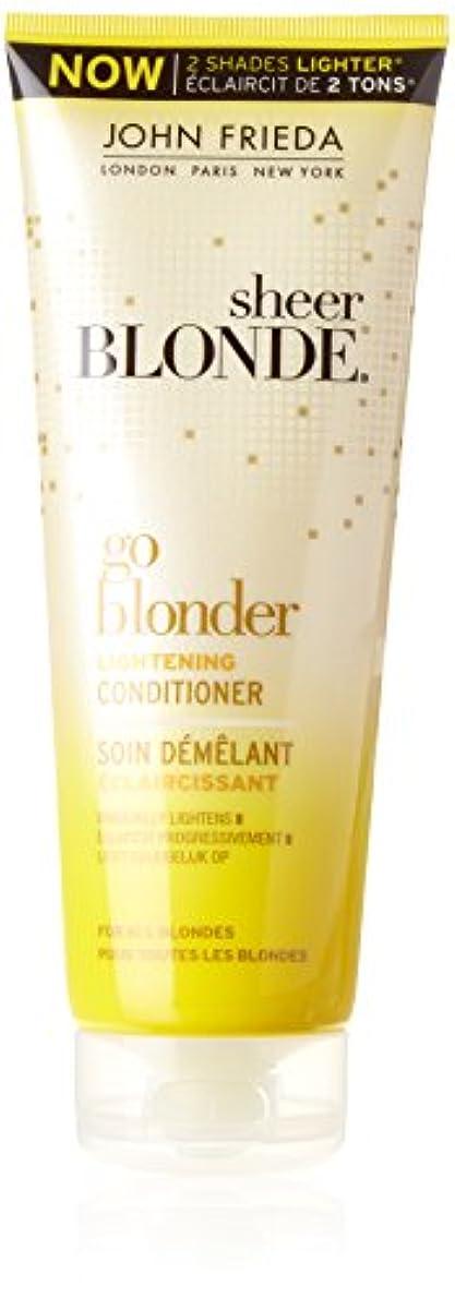 事故ロゴぜいたくJohn Frieda Sheer Blonde Go Blonder Lightening Conditioner 250 ml