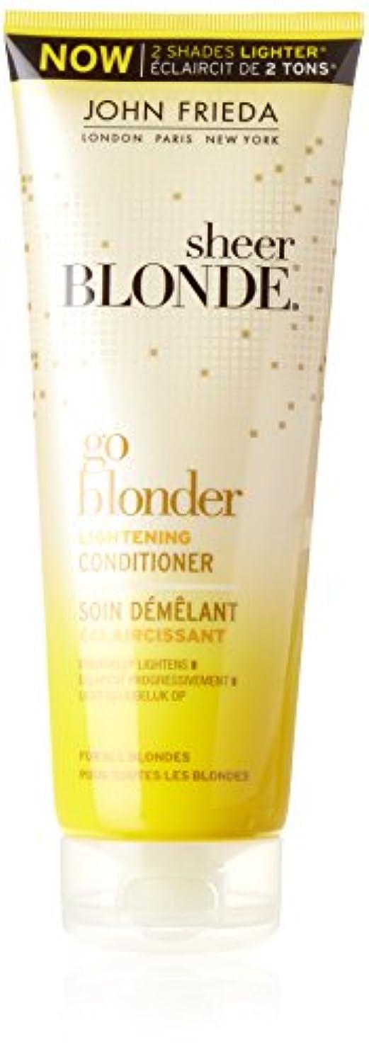 ヘルメット恥ずかしさアクティブJohn Frieda Sheer Blonde Go Blonder Lightening Conditioner 250 ml