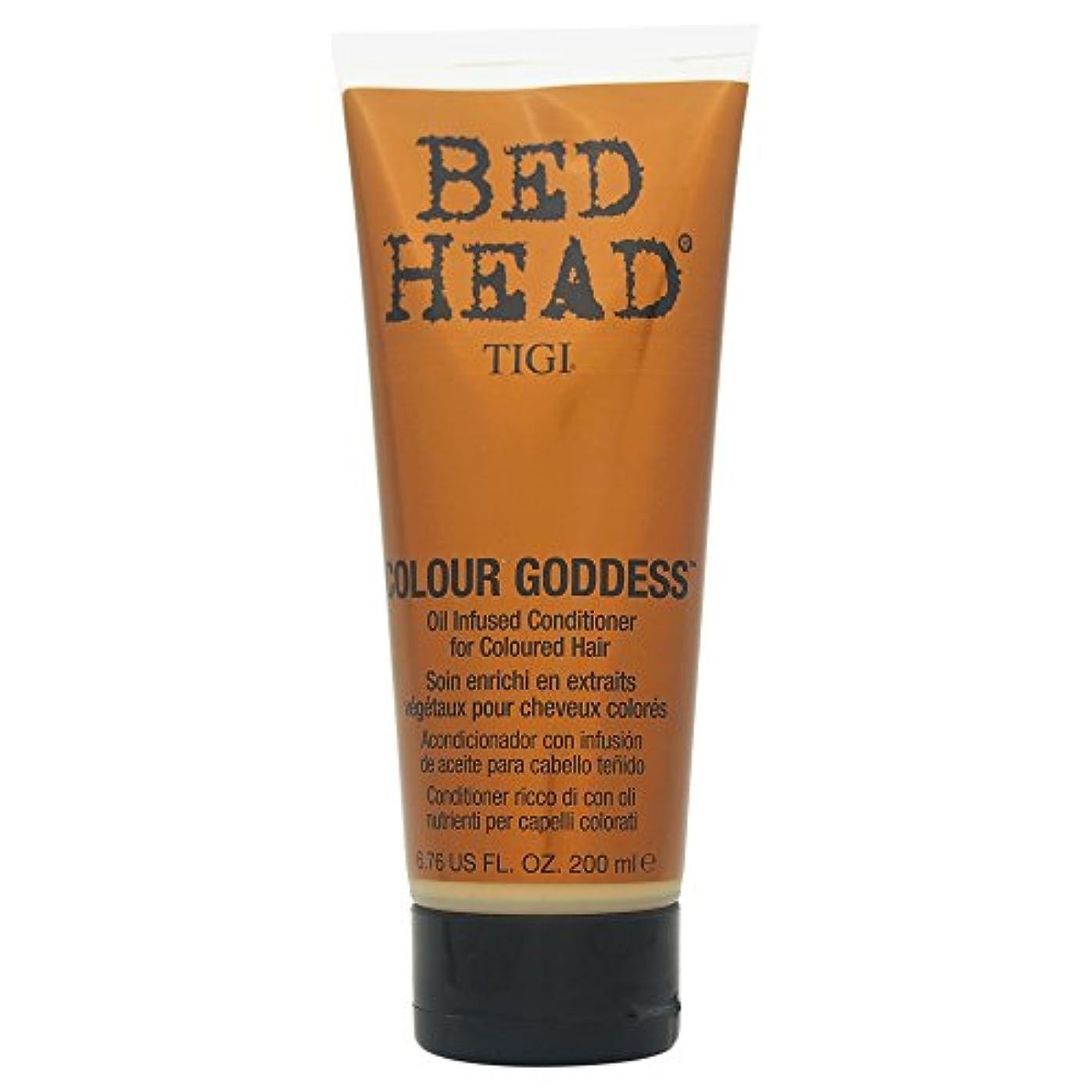 治安判事忍耐もう一度Tigi Bed Head Colour Goddess Oil Infused Conditioner 200ml [並行輸入品]