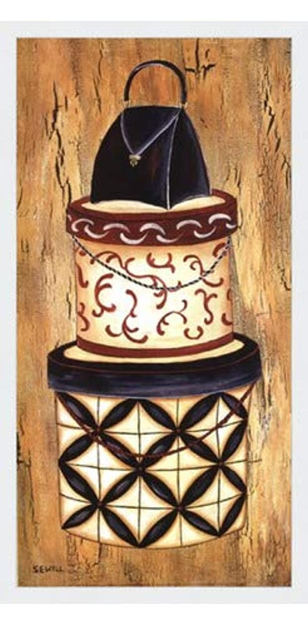 リテラシー敵意上昇ヴィンテージハットボックスI by Krista Sewell – 12 x 24インチ – アートプリントポスター LE_56281-F8989-12x24