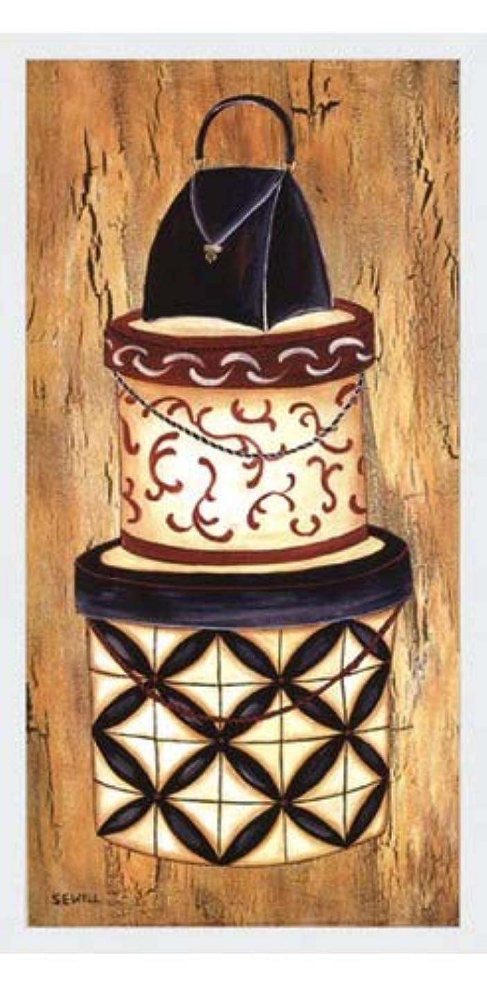 寝る不信敬礼ヴィンテージハットボックスI by Krista Sewell – 12 x 24インチ – アートプリントポスター LE_56281-F8989-12x24