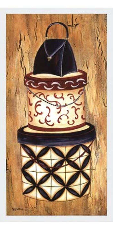ラフト設計図帰るヴィンテージハットボックスI by Krista Sewell – 12 x 24インチ – アートプリントポスター LE_56281-F8989-12x24