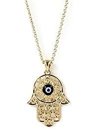 SONONIA 耐久性 実用 2点 ファティマ 邪眼のペンダント ネックレスのチェーン ジュエリー ファッション ゴールド ハムサ手