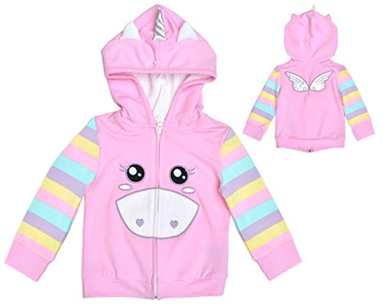 Mini JijiピンクTabby Kitty Catパーカー/ジャケットfor赤ちゃん乳児幼児キッズ用ガールズ カラー: ピンク