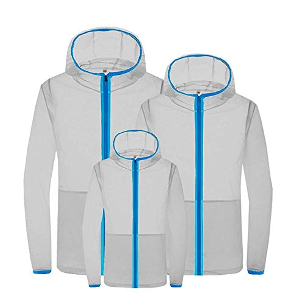 びっくり人気ぼろ夏のエアコンスーツスマート3速冷却スーツ日焼け防止服防滴防蚊服ファン冷却肌の服,Gray,S