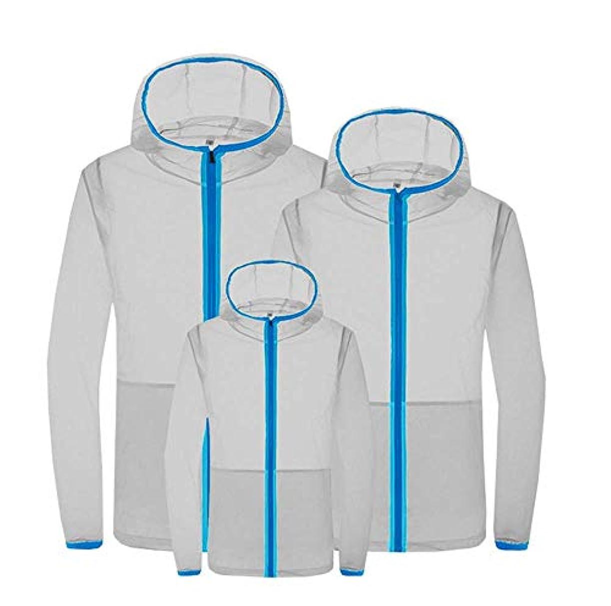マイク勧める思いつく夏のエアコンスーツスマート3速冷却スーツ日焼け防止服防滴防蚊服ファン冷却肌の服,Gray,S