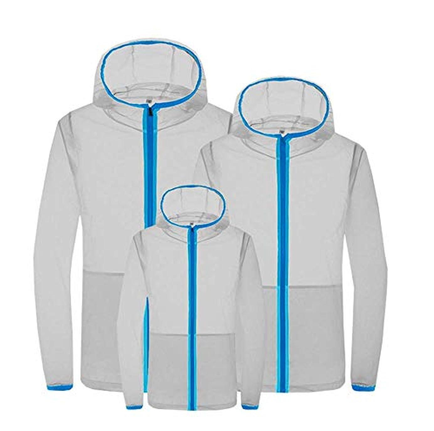 定期的な私たちダウンタウン夏のエアコンスーツスマート3速冷却スーツ日焼け防止服防滴防蚊服ファン冷却肌の服,Gray,S