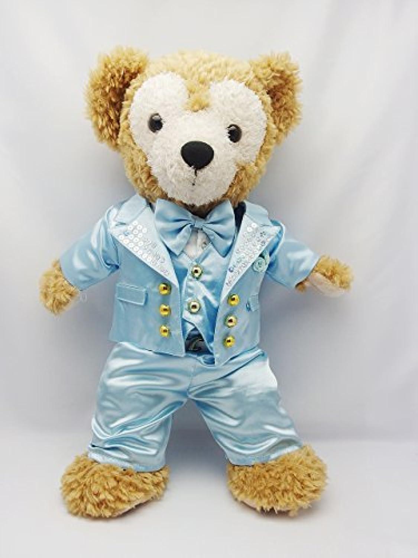 Sサイズ(全長43cm) ダッフィー 衣装 水色 スーツ コスチューム ぬいぐるみ 洋服 kdn11