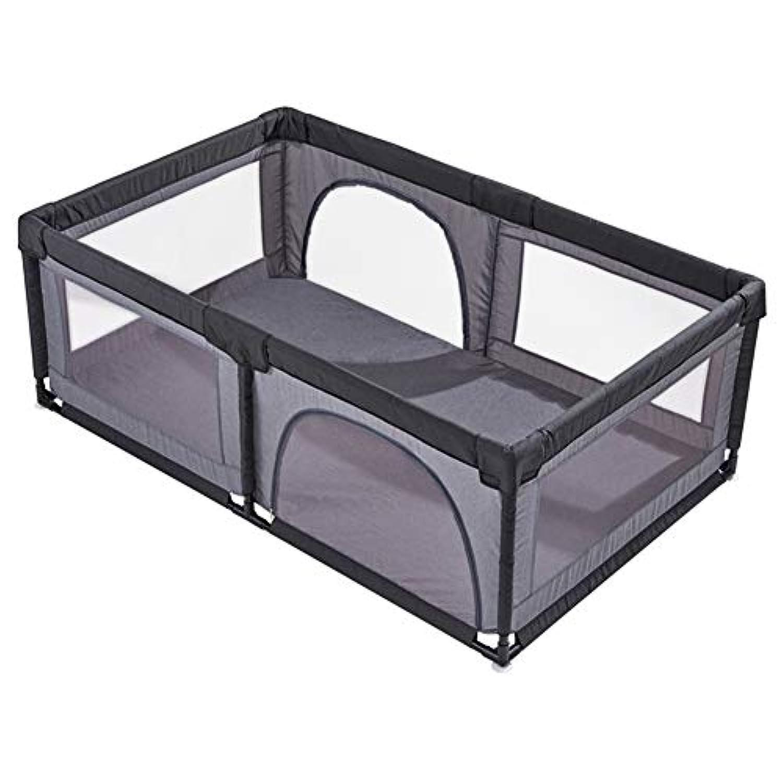 BSNOWF-ベビーサークル 灰色のポータブルベビープレイペン、アンチロールオーバーホーム屋内安全プレイヤード、幼児用ルームディバイダーフェンス (サイズ さいず : 120×190cm)