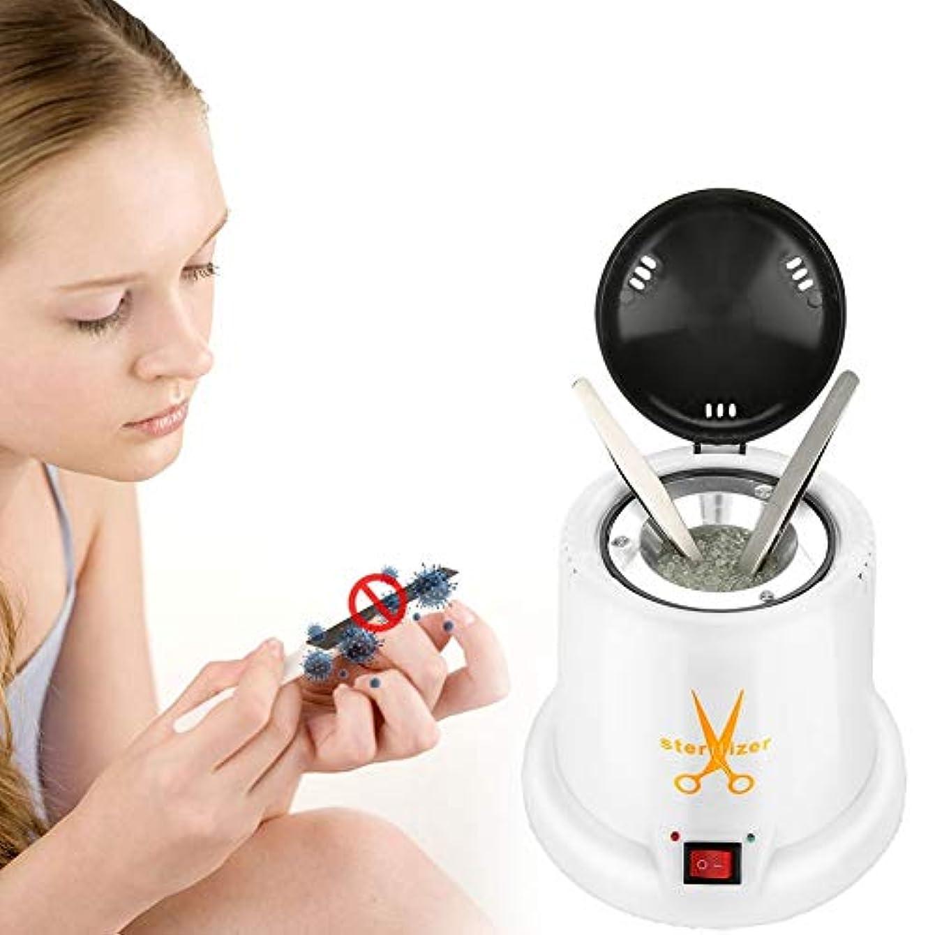 布風刺緯度消毒ボックス、高温金属化粧ネイルアートツール滅菌器、石英砂(US Plug)