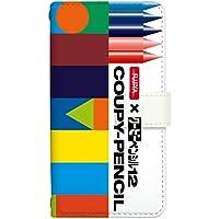 [Qua phone QX KYV42] スマホケース 手帳型 ケース デザイン手帳 クアフォーン キューエックス 8152-A. デザインA かわいい おしゃれ かっこいい 人気 ケータイケース サクラクレパス 柄 クレヨン 柄 クーピー 柄