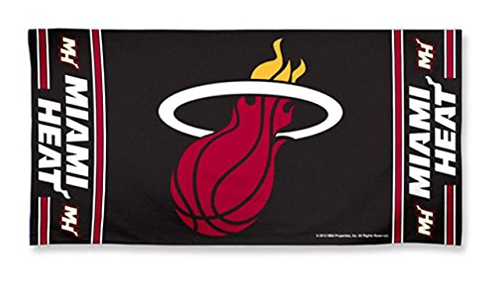 チョコレートウィスキー機械的Miami Heat Pool Beach Bath Gym Towel Large 80cm X 150cm with Official NBA Basketball Sports Team Logo