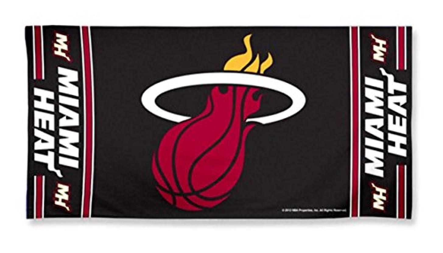 同化汚れる。Miami Heat Pool Beach Bath Gym Towel Large 80cm X 150cm with Official NBA Basketball Sports Team Logo