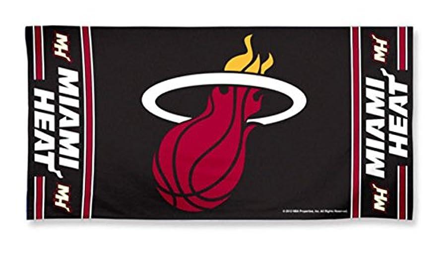 脅迫と遊ぶ馬鹿げたMiami Heat Pool Beach Bath Gym Towel Large 80cm X 150cm with Official NBA Basketball Sports Team Logo