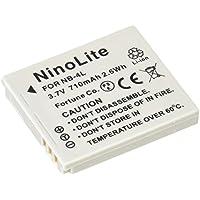 NinoLite NB-4L 互換 バッテリー 2個セット キャノン IXY 620F 610F 600F 410F POWER SHOT TX1 等対応 nb4lx2_t.k.gai