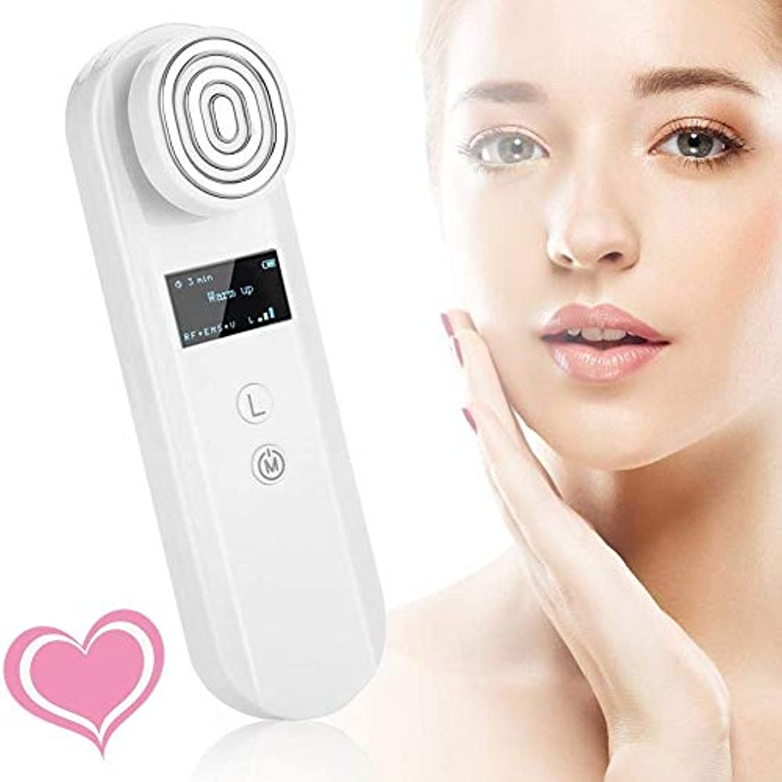 横ぴかぴかメカニックソニックフェイシャルマッサージ装置のRF理学療法顔美容機器、美容機器しわ除去アンチエイジング、肌のマッサージツール、リフトと企業肌を引き締めEMSスキン、ホーム&ビューティーサロンポータブル