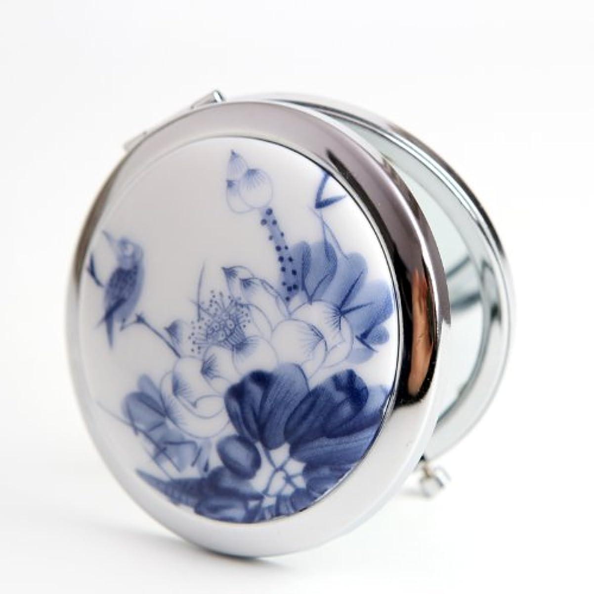 オーガニックゆりかご低い手作り 手鏡 レディース コンパクトミラー 化粧鏡 携帯ミラー 細かなメイクや日々のスキンケアに最適!