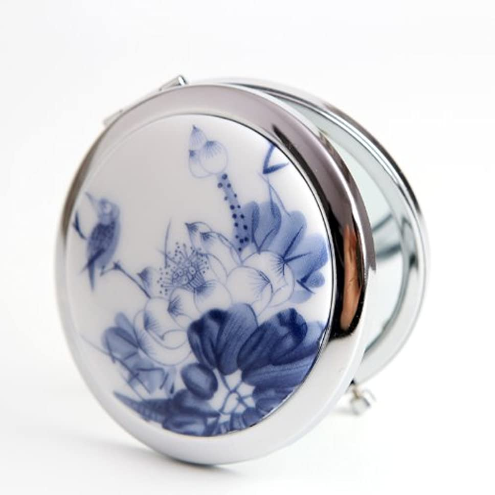 石炭合金耐久手作り 手鏡 レディース コンパクトミラー 化粧鏡 携帯ミラー 細かなメイクや日々のスキンケアに最適!