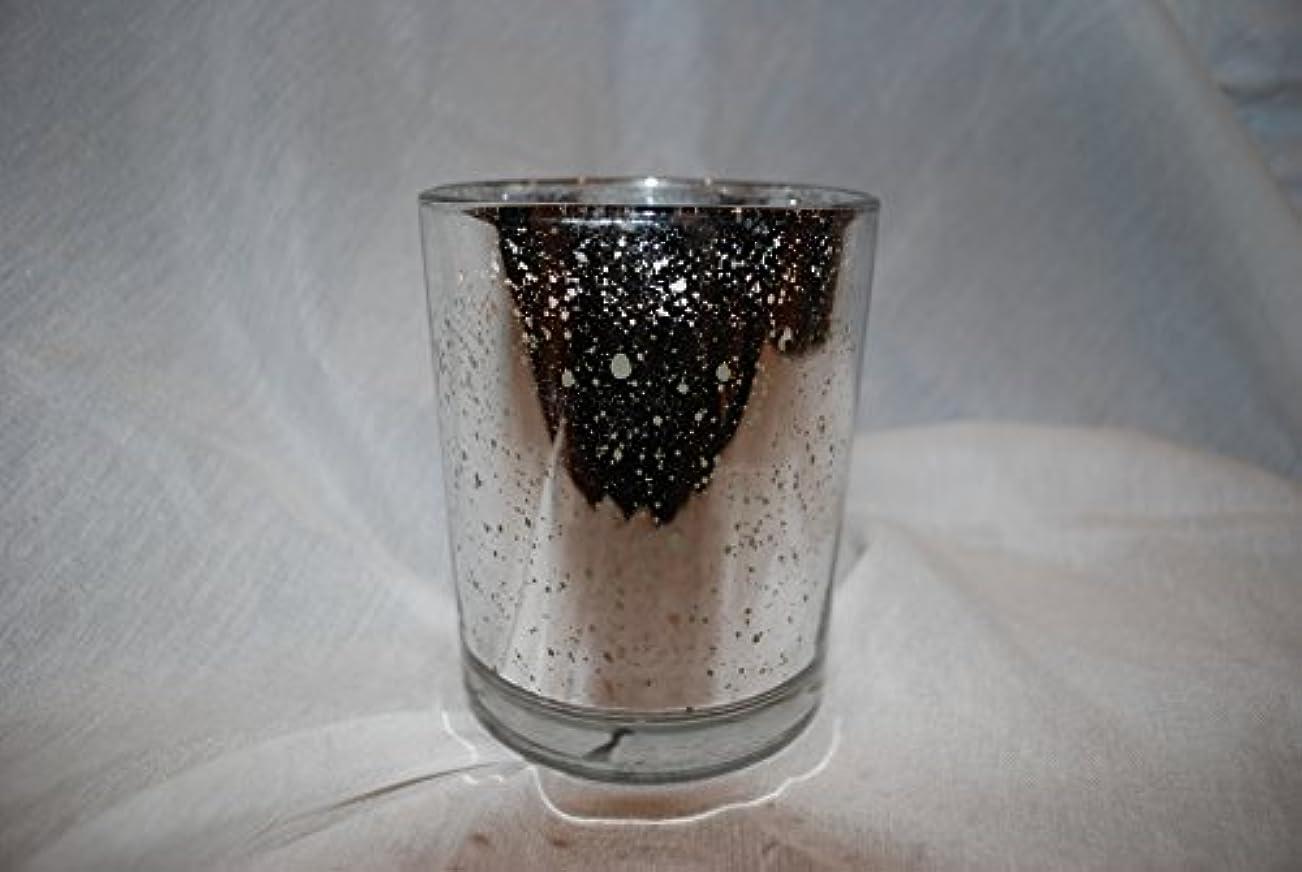 溝ソケット代表団Aromatique French Paperwhite香りつきJar Candle inシルバーメタリック斑点ガラス370ml