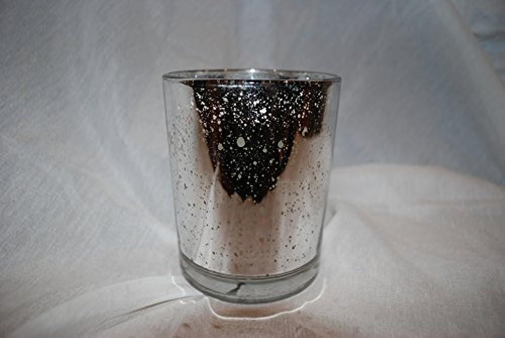 抵当生じる者Aromatique French Paperwhite香りつきJar Candle inシルバーメタリック斑点ガラス370ml