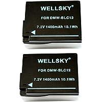 [WELLSKY] [ 2個セット ] Panasonic パナソニック DMW-BLC12 / シグマ BP-51 互換バッテリー [ 純正充電器で充電可能 残量表示可能純正品と同じよう使用可能 ] LUMIX ルミックス DMC-GH2 / DMC-G6 / DMC-G7 / DMC-G5 / DMC-FZ200 / DMW-FZ300 / DMC-FZ1000 / DMC-GX8 / DMC-FZH1