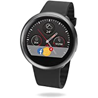 MyKronoz ZeRound2 Smartwatch Circular Color Touchscreen - Black/Black (Certified Refurbished)