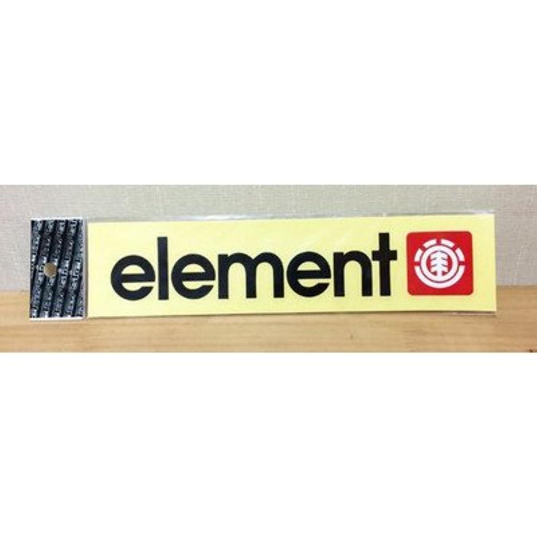 ELEMENT エレメント カッティングステッカー 黒 メインロゴ