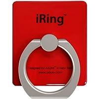 【正規輸入品】iRing オークス グリップ スタンド 全9色 レッド スマホ タブレット用 落下防止 UMS-IR01RD