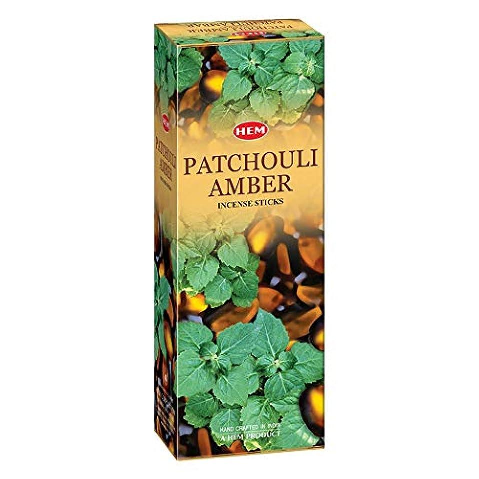 世紀アブセイ必要条件Hem Patchouli Amber Incense Sticks(9.3 cm X 6.0 cm X 25.5cm, Black)