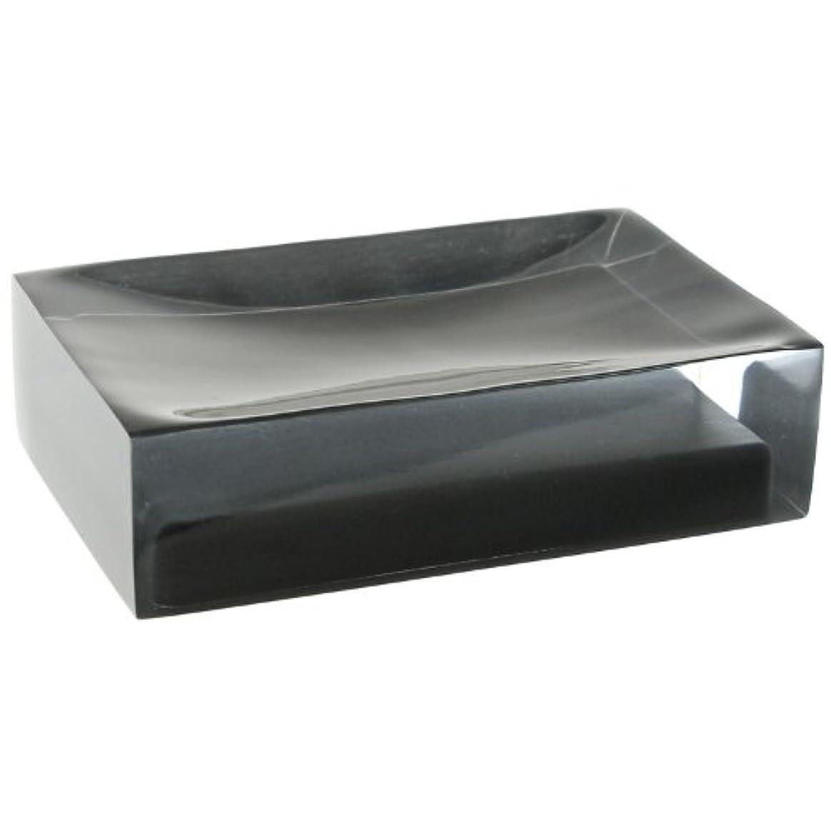 霜人種すき(Black) - Gedy Gedy RA11-14 Rainbow Soap Holder, 0.8cm L x 11cm W, Black