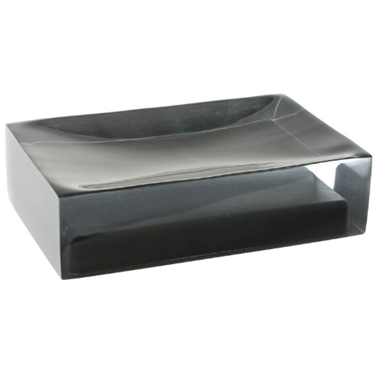 と闘うしおれたガチョウ(Black) - Gedy Gedy RA11-14 Rainbow Soap Holder, 0.8cm L x 11cm W, Black