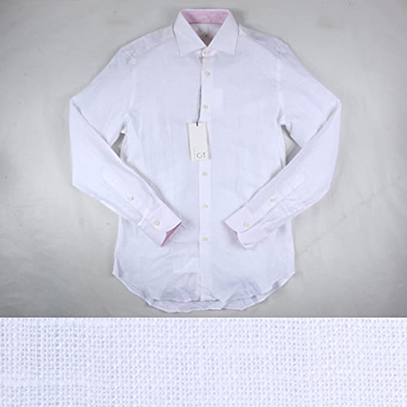押す立方体夜luxuryCIT リネン100% 長袖シャツ B310C white 40【S13159】 ラグジュアリーシット [並行輸入品]